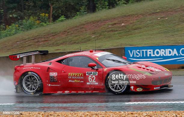 The Ferrari F458 Italia during the Petit Le Mans Powered by Mazda, the season-ending IMSA race in the TUDOR United SportsCar Challenge series held at...
