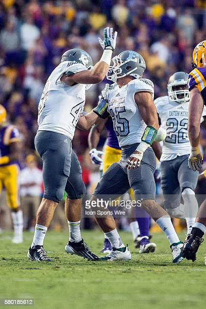 October 3 Eastern Michigan Eagles at LSU Tigers Eastern Michigan defensive lineman Clay Dawson during a game in Baton Rouge Louisiana