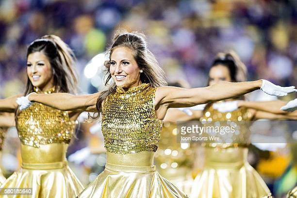 October 3 Eastern Michigan Eagles at LSU Tigers The LSU Golden Girls entertain the crowd during a game in Baton Rouge Louisiana