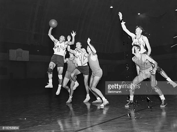 October 30 1947New York New York JapaneseAmerican basketball player Wat Misaka of the New York Knickerbockers