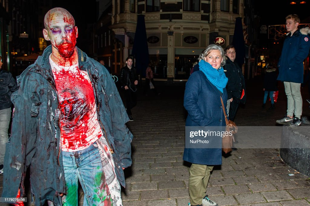 Halloween Arnhem.October 31st Arnhem As In Previous Years The Zombie Walk Took News Photo Getty Images