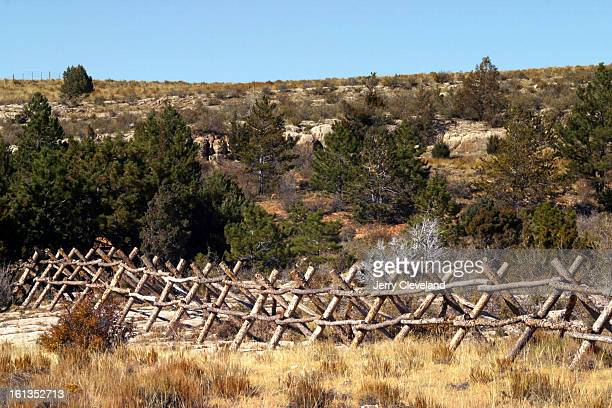 LARAMIE WYO October 4 2003 The rail ranch fence near Laramie WY where Matthew Shepard <cq> was tied beaten and left to die stands quietly Saturday...
