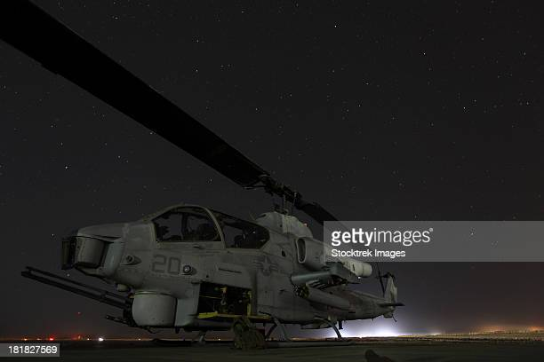 October 4, 2012 - A U.S. Marine Corps AH-1W Cobra attack helicopter sits at Camp Dwyer in Helmand province, Afghanistan.