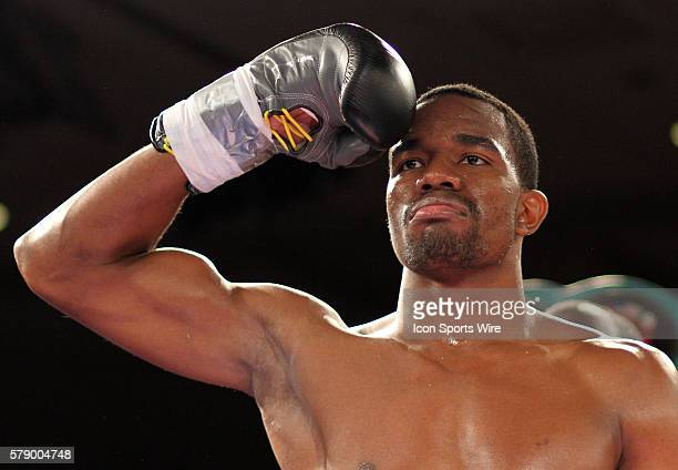 Jesse Hart gets introduced before a boxing match at Bally's Hotel and Casino in Atlantic City New Jersey