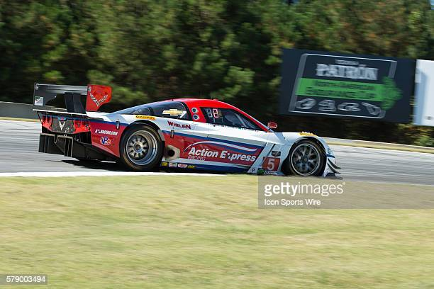 The Action Express Racing Chevrolet Corvette during the Petit Le Mans Powered by Mazda, the season-ending IMSA race in the TUDOR United SportsCar...