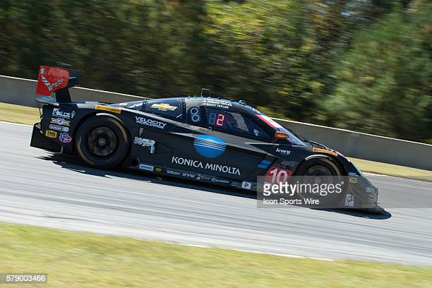 The race-winning Wayne Taylor Racing team's Konica-Minolta Chevrolet Corvette in the Prototype class driven by Ricky Taylor, Jordan Taylor, and Max...