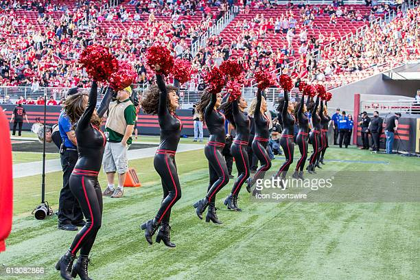 49ers cheerleaders at the regular season NFL game between the Arizona Cardinals and the San Francisco 49ers at Levi's Stadium in Santa Clara CA Final...