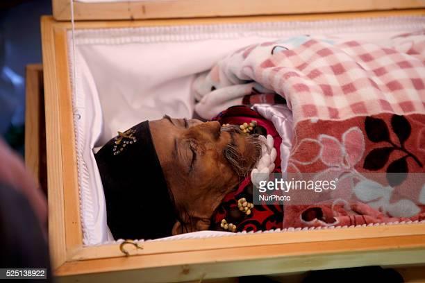October 6 Kathmandu Nepal People gather around the body of world's shortest man Chandra Bahadur Dangi to pay their condolences to him in Kathmandu...