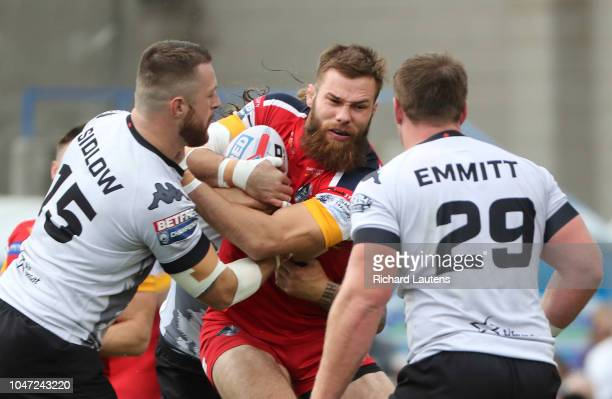 TORONTO ON October 7 London's Thomas Spencer tries to break through the Wolfpack The Toronto Wolfpack lost to the London Broncos 42 for the Million...