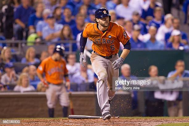 Houston Astros center fielder Jake Marisnick during the MLB Playoff ALDS game 1 between the Houston Astros and the Kansas City Royals at Kauffman...
