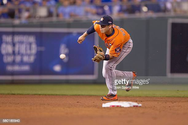Houston Astros shortstop Carlos Correa during the MLB Playoff ALDS game 1 between the Houston Astros and the Kansas City Royals at Kauffman Stadium...