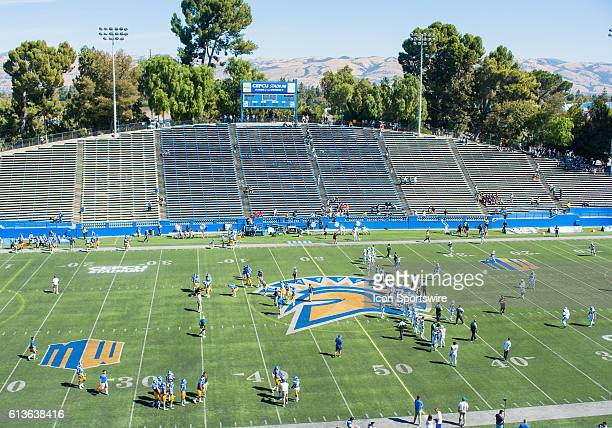 A general view of CEFCU Stadium prior to the Mountain West Conference game between San Jose State Spartans verses the Hawaii Warriors at CEFCU...