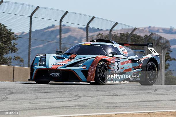 Anthony Mantella in a GTS Class KTM XBow GT4 during race of the Pirelli World Challenge GTS races held at Mazda Raceway Laguna Seca near Monterey CA