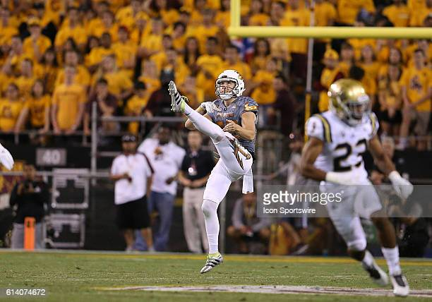 Arizona State Sun Devils punter Matt Haack punts the ball during the second half of the Pac-12 college football game against the UCLA Bruins at Sun...