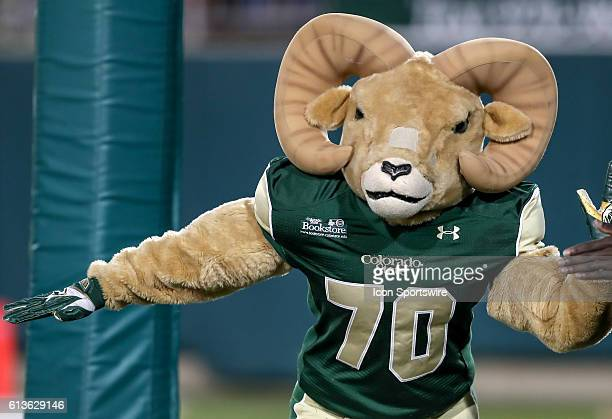 Colorado State mascot Cam during the Mountain West Conference NCAA football game between Utah State Aggies and Colorado State Rams at Sonny Lubick...