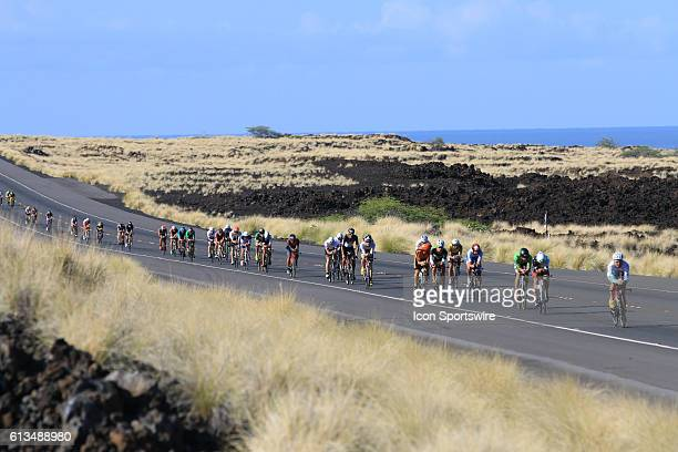 Competitors from around the world compete during the bike segment of the Ironman World Championship held on the Big Island of Hawaii The annual event...