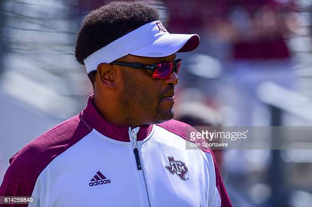 Texas AM Aggies head coach Kevin Sumlin during the Tennessee Volunteers vs Texas AM Aggies game at Kyle Field College Station Texas