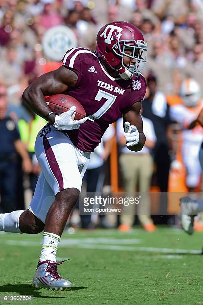 Texas A&M Aggies running back Keith Ford looks for running room during the Tennessee Volunteers vs Texas A&M Aggies game at Kyle Field, College...