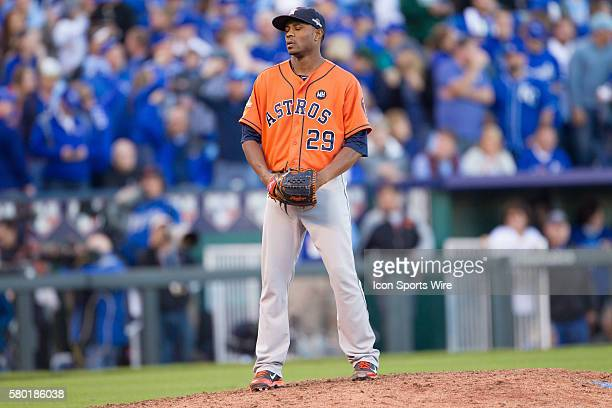 Houston Astros relief pitcher Tony Sipp during the MLB Playoff ALDS game 2 between the Houston Astros and the Kansas City Royals at Kauffman Stadium...