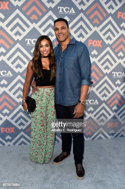 October Gonzalez and Tony Gonzalez attend the FOX 2017 Summer TCA Tour after party on August 8 2017 in West Hollywood California