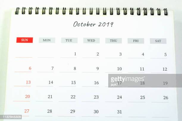 october month calendar - october stock pictures, royalty-free photos & images
