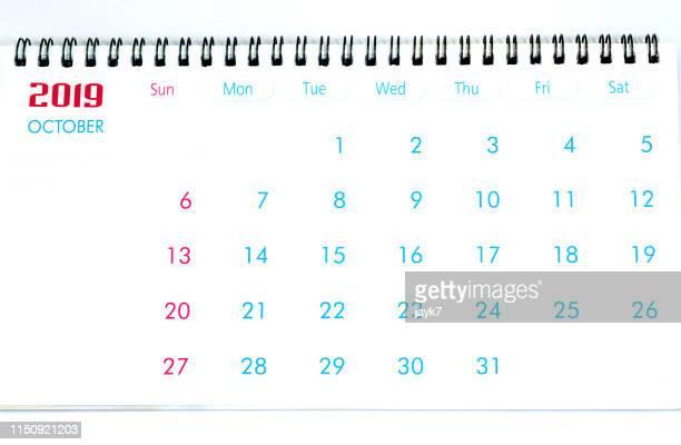 october month calendar - 十月 ストックフォトと画像