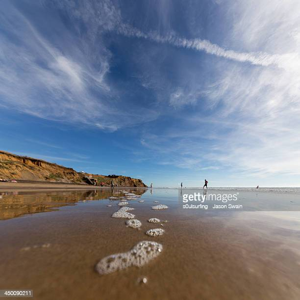 october on the beach - s0ulsurfing stock pictures, royalty-free photos & images