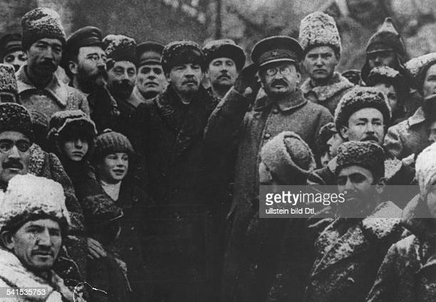 October Revolution 1917 Lenin *22041870 Politician USSR Lenin and other Soviet leaders at a ceremony marking the 3rd anniversary of the October...