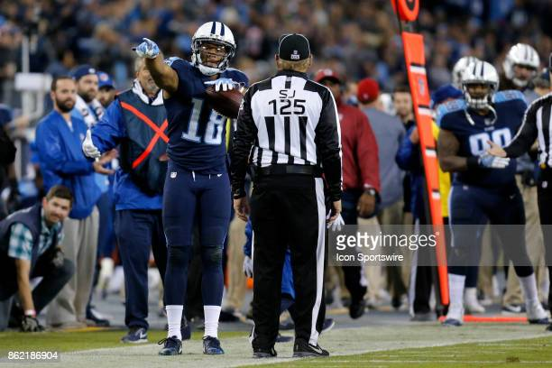 Tennessee Titans wide receiver Rishard Matthews signals his first down during an NFL football game between the Indianapolis Colts and the Tennessee...