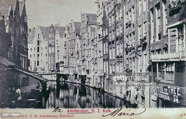 October27 1275 foundation of the city of Amsterdam View entitled where you see a characteristic canal with palaces on the water Postcard...