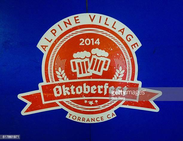 Octoberfest sign celebrating 2014 festivities in Torrance, Ca.