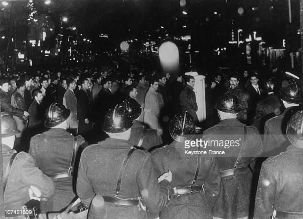 Octobre 13Th Demonstartion Against Algerian War In Paris On 1961