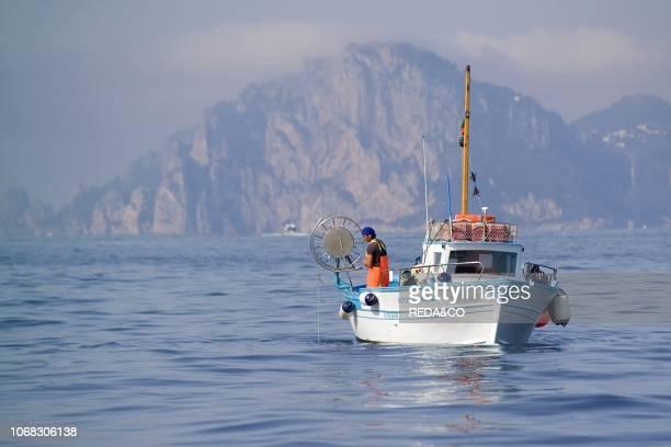 Octopus fishing with fish traps Capri Island Sorrento Coast Gulf of Naples Naples Campania Italy