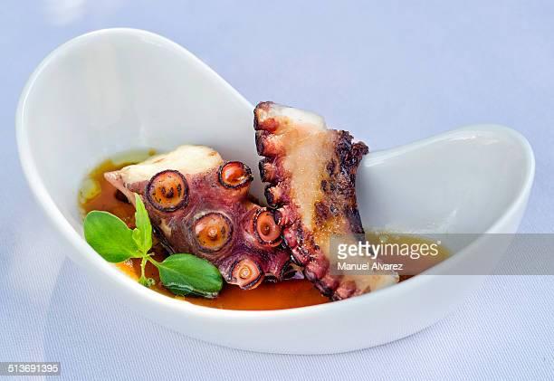 octopus galician style - comunidad autónoma de galicia fotografías e imágenes de stock