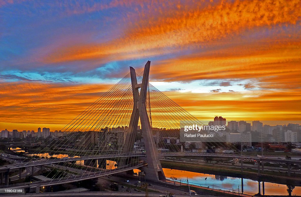 Octávio Frias de Oliveira Bridge - Ponte Estaiada : Stock Photo