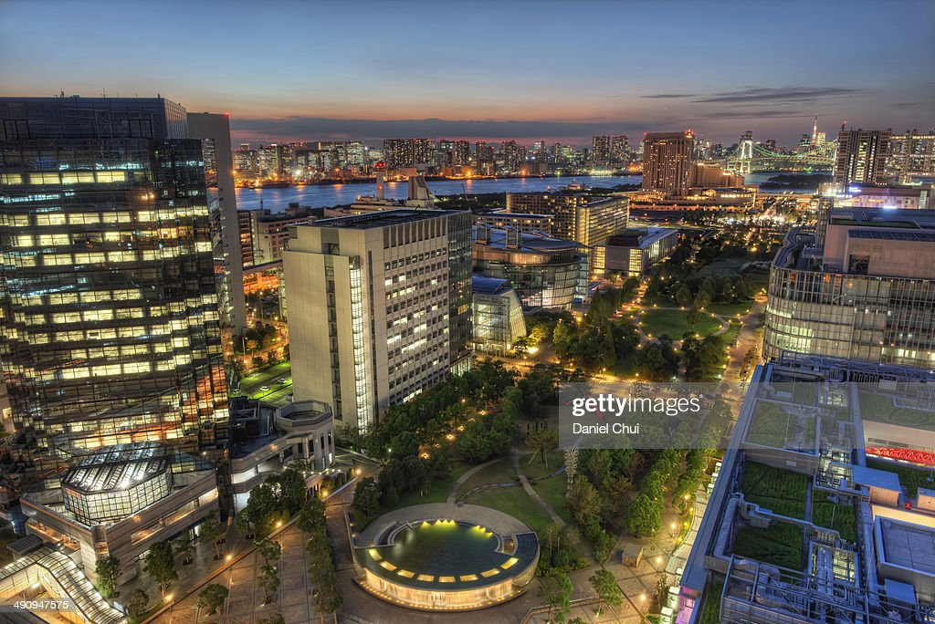 Odaiba at dusk : Stock Photo