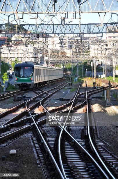 Odakyu Train - Abiko Express On The Move - Tokyo Japan
