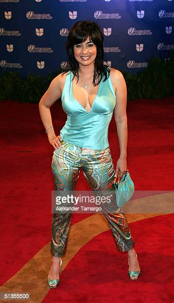 Odalys Garcia attends the 1st Annual Premios Juventud Awards at the James L Knight Center September 23 2004 in Miami Florida