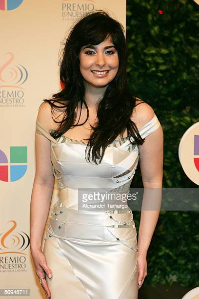 Odalys Garcia attends the 2006 Premio Lo Nuestro Awards at the American Airlines Arena February 23 2006 in Miami Florida