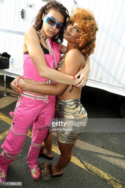 Odalys Pena and Melii backstage at Summer Jam 2019 at MetLife Stadium on June 2 2019 in East Rutherford New Jersey