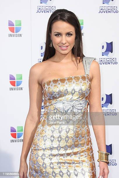Odalys Ramirez arrives at Univision's 8th Annual Premios Juventud Awards at Bank United Center on July 21 2011 in Miami Florida