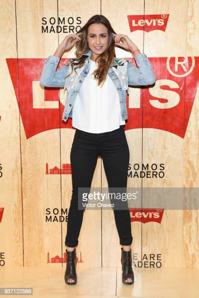 Odalys Ramirez attends the Levi's Flagship Madero store opening at historical center streets on March 22 2018 in Mexico City Mexico