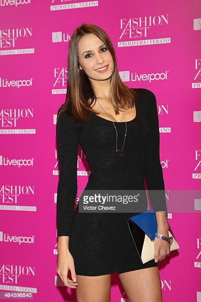 Odalys Ramirez attends the Liverpool Fashion Fest Spring/Summer 2015 at Televisa San Angel on February 26 2015 in Mexico City Mexico