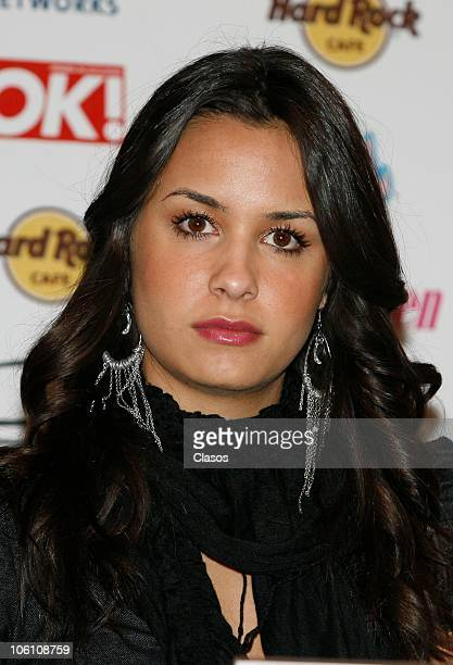Odalys Ramirez during a press conference to present the Telehit awards on October 25 2010 in Mexico City Mexico