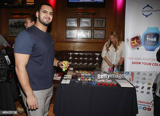Oday Aboushi attends Brandit Hospitality Talent Resources Sports Presents Welcome to New York Luxury at Bounce Sporting Club on February 13 2015 in...