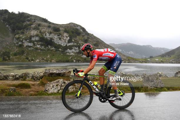 Odd Christian Eiking of Norway and Team Intermarché - Wanty - Gobert Matériaux Red Leader Jersey competes during the 76th Tour of Spain 2021, Stage...