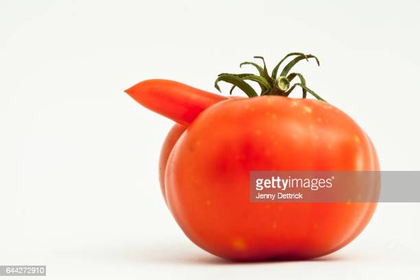Odd-shaped tomato