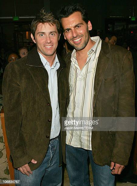 Oded Fehr and director John Gatins during Dreamworks Pictures' 'Dreamer Inspired By A True Story' Los Angeles Premiere After Party at The Napa Valley...