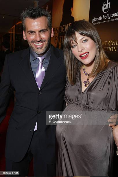 Oded Fehr and Milla Jovovich at the World Premiere of Screen Gems 'Resident Evil Extinction' at Planet Hollywood Resort and Casino on September 20...