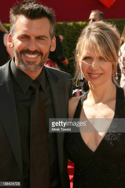 Oded Fehr and Rhonda Tollefson during 58th Annual Primetime Emmy Awards Arrivals at Shrine Auditorium in Los Angeles California United States